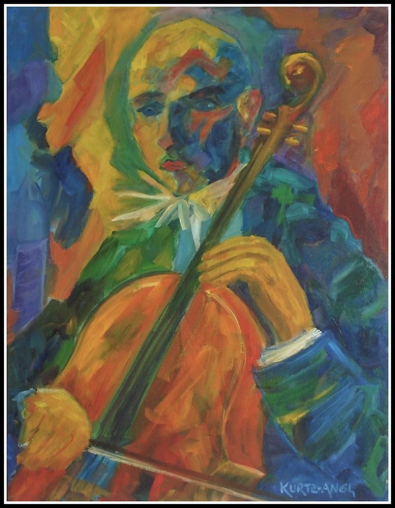 Clown with Cello